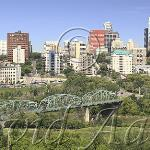 Walterdale bridge from the southside.  1999