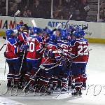 Oil Kings first game and first win upon returning to the WHL.  Post game celebration. Taken Sept 20 2007 at 10:01 pm MST