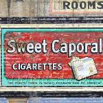 Mural from the 1940's.  Sweet Caporal's were produced for the Canadian market for nearly 125 years.  They were only recently discontinued in 2011.
